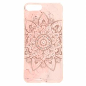 Pink Marbled Mandala iPhone Case (Fits 6+,7+,8+)